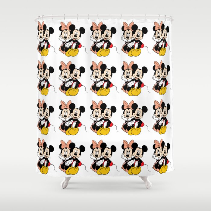 Cartoon Minnie Mickey Mouse Shower Curtain By Maxvision