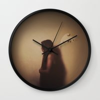 angel wings Wall Clocks featuring Angel Wings  by jilljustusphoto
