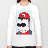 super mario Long Sleeve T-shirts featuring Super Mario by Di Leo Comics