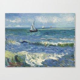 Vincent Van Gogh - Seascape at Saintes-Maries, 1888 Canvas Print
