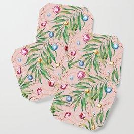 Glamorous Palm Pink Coaster