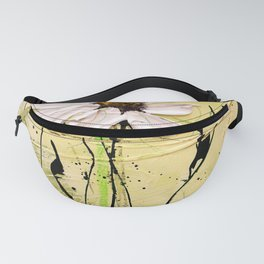 Green poesie floral painting Fanny Pack