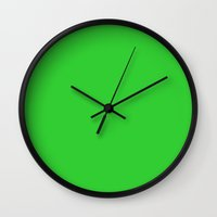 lime green Wall Clocks featuring Lime green by List of colors