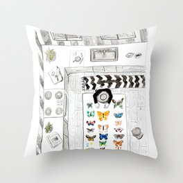 Butterfly Collector Throw Pillow