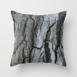 TEXTURES -- Fremont Cottonwood Bark Throw Pillow