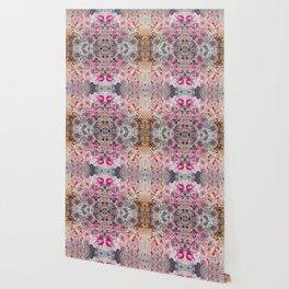 Pink Chickadees Wallpaper