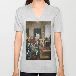 The Signing of the Constitution of the United States - Howard Chandler Christy Unisex V-Neck