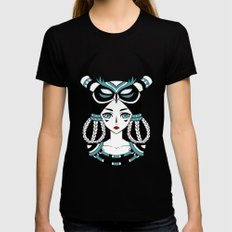 Owl Tribe Womens Fitted Tee X-LARGE Black