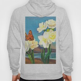 A Morning Greeting From Narcissus Flowers Hoody