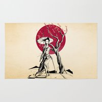 geisha Area & Throw Rugs featuring Geisha by Rafapasta