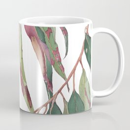 A touch of red - watercolour of eucalyptus branch Coffee Mug