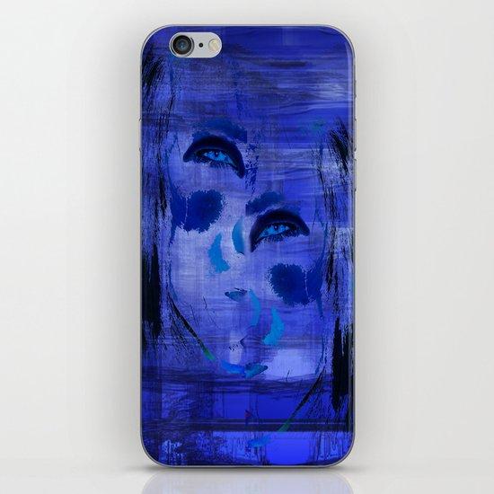 Blue Woman 2 iPhone & iPod Skin
