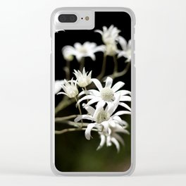 Flannel Flowers Clear iPhone Case
