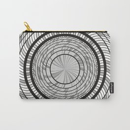 Grey Monochrome Circles Art Carry-All Pouch