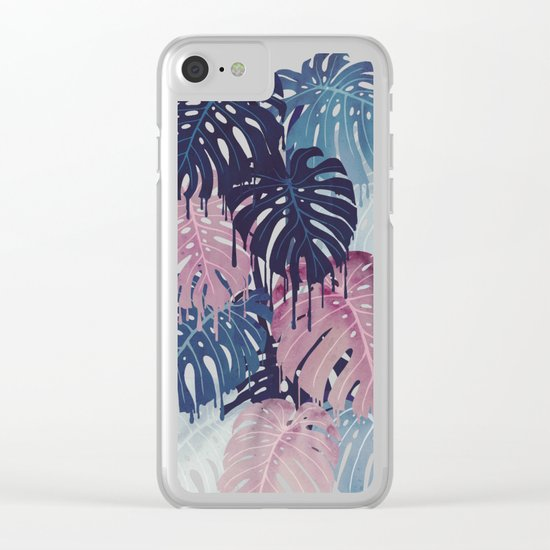 Monstera Melt Clear iPhone Case
