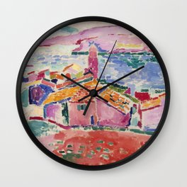 Henri Matisse View of Collioure Wall Clock