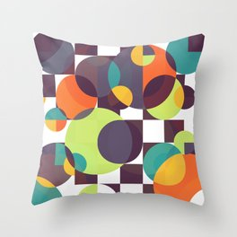 Searching for the moon Throw Pillow