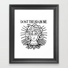 Medusa: Don't Tread On Me (White) Framed Art Print