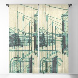 RF295 Town Z55 - WIRE Sheer Curtain