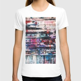 Wall covered with paint T-shirt