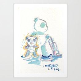 Tantrum Baby Panda Art Print