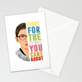 Fight For The Things You Care About Notorious RBG Stationery Cards