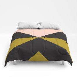 Split X Olive Pink Comforters