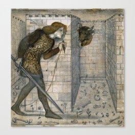 "Edward Burne-Jones ""Theseus and the Minotaur in the Labyrinth"" Canvas Print"
