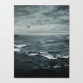 Dark Shore - original oil painting by Sarah Lynch Canvas Print