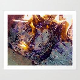 Beautiful Journal Burning Art Print