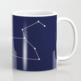 Leo Star Sign Deep Blue Coffee Mug