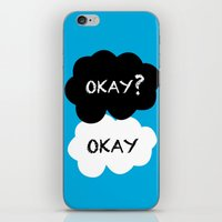 okay iPhone & iPod Skins featuring Okay by Hoeroine