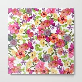 Zariya Flower Garden Metal Print