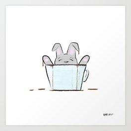 Coffee Bunny Art Print