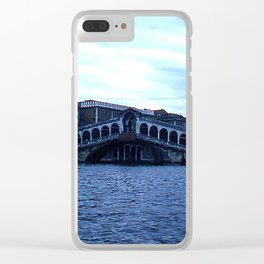 Rialto Bridge * 1950's * Italy * Kodachrome * Vintage Color Photo * Venice Clear iPhone Case