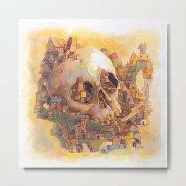 Skull City Metal Print