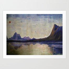 Canyon Landscape Art Print
