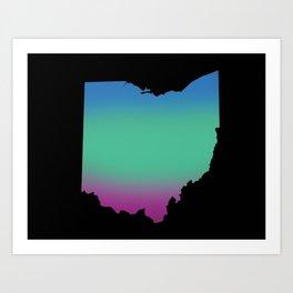Ohio Outline Art Print
