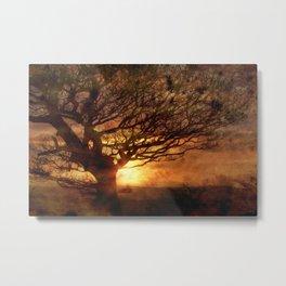 Sunset Over Beamish Metal Print