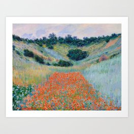 Poppy Field in a Hollow near Giverny Claude Monet Art Print