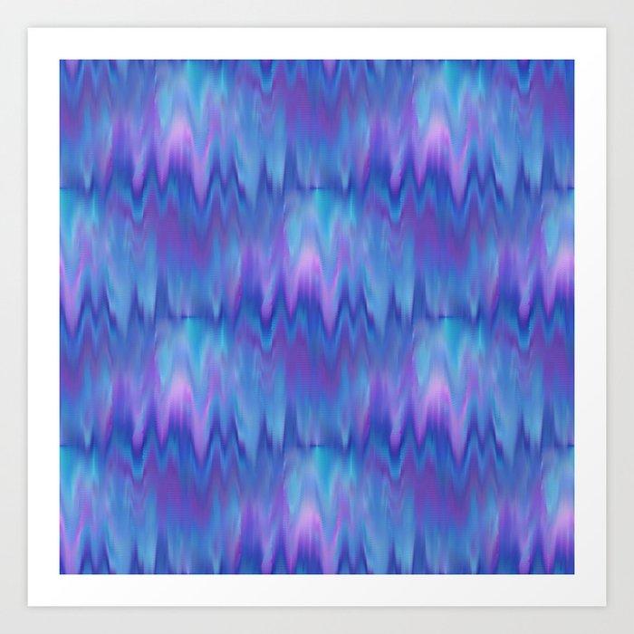 I Love Blue 2-Ocean Frequency  Art Print