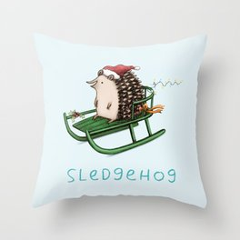Sledgehog Throw Pillow