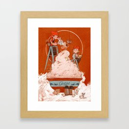 Christmas porridge Framed Art Print