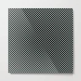 Black and Surf Spray Polka Dots Metal Print