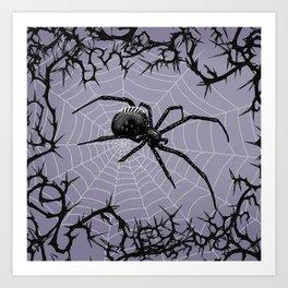 Briar Web - Gray Art Print