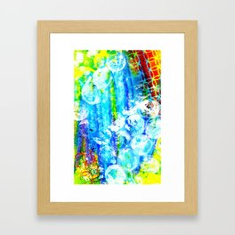 Blue Abstract Framed Art Print