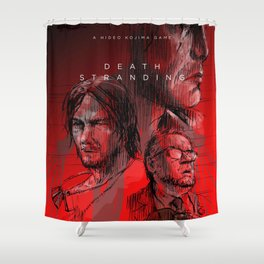 Death Stranding red Shower Curtain