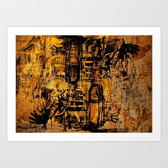 Thinking Yellow Art Print