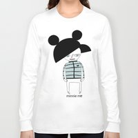 minnie Long Sleeve T-shirts featuring MINNIE ME by Manola  Argento