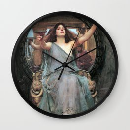 John William Waterhouse - Circe Offering the Cup to Ulysses Wall Clock